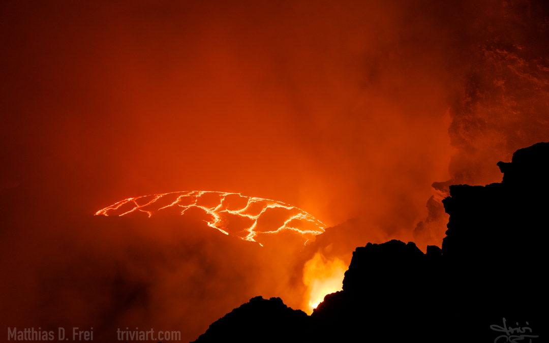 Vulkan Erta Ale in Äthiopien