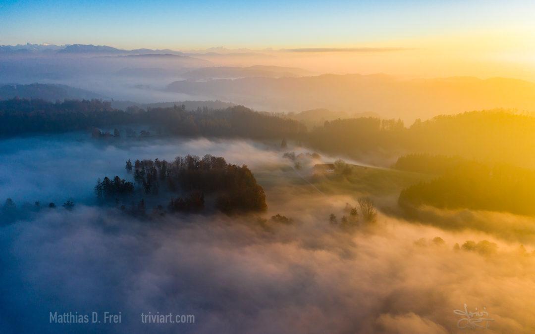 Kampf zwischen Sonne und Nebel