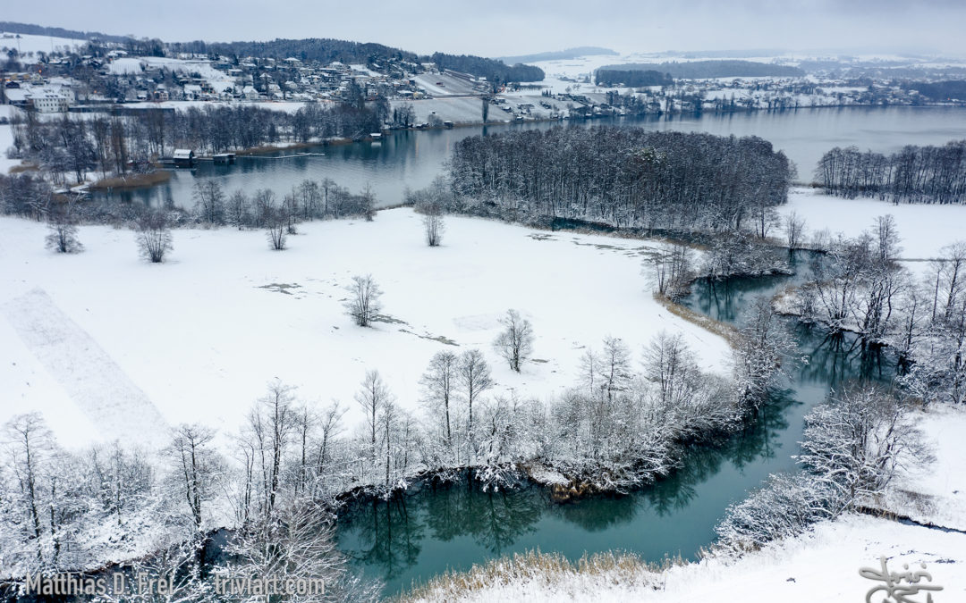 Schnee am Aabach
