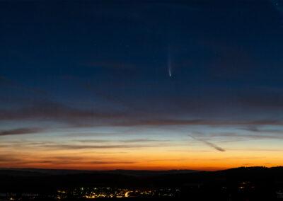 Komet Neowise am 13. Juli 2020 um 4 Uhr